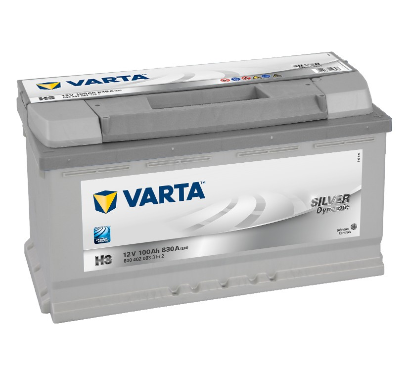 Varta H3 Heavy Duty 12 Volt 019 100Ah 830CCA 5 Year Audi BMW Fiat Mercedes VW Car Battery
