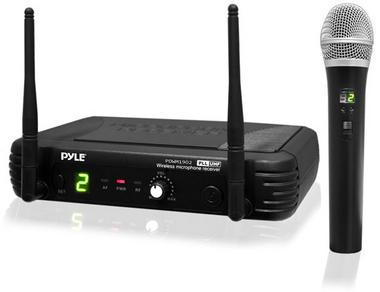 PylePro PDWM1902 Premier Series Professional UHF Wireless Handheld Microphone System with Selectable Frequencies Thumbnail 2