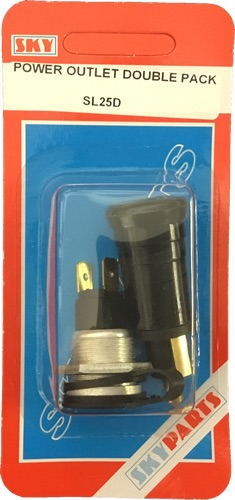 Sky Parts SL25D Car Van Automotive Accessory Hardware Aux Plug & Socket