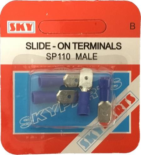 Sky Parts SP110 Car Van Automotive Accessory Hardware Blue Male Terminals