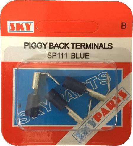 Sky Parts SP111 Car Van Automotive Accessory Hardware Blue Piggyback Terminals