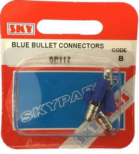 Sky Parts SP112 Car Van Automotive Accessory Hardware Blue Bullet Connector