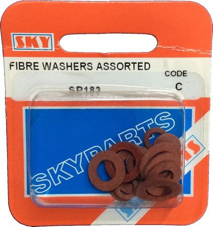Sky Parts SP183 Car Van Automotive Accessory Hardware Fibre Washers Assorted