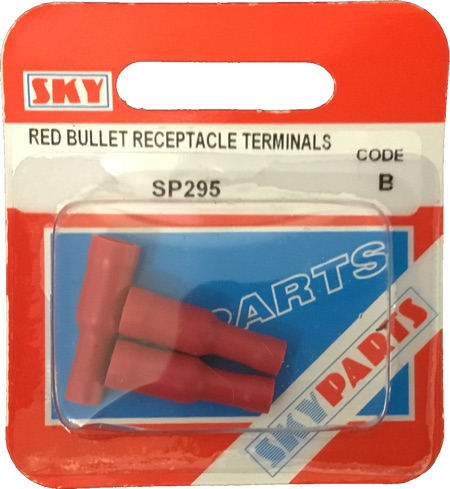 Sky Parts SP295 Car Van Automotive Accessory Hardware Red Bullet Connector