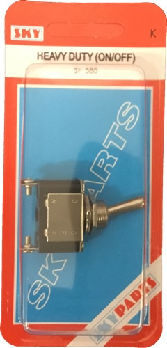 Sky Parts SP580 Car Van Automotive Accessory Hardware 12V Volts 25A Amps On-Off Metal Toggle Switch