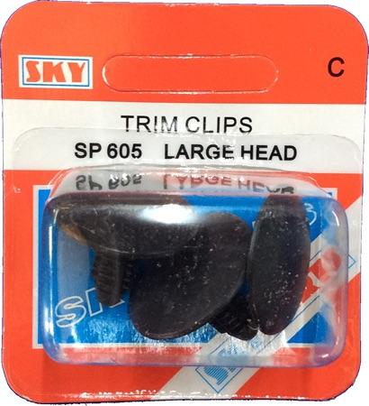 Sky Parts SP605 Car Van Automotive Accessory Hardware Trim Clips Large Head