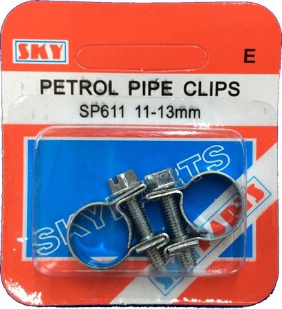Sky Parts SP611 Car Van Automotive Accessory Hardware Petrol Pipe Clips 11-13mm