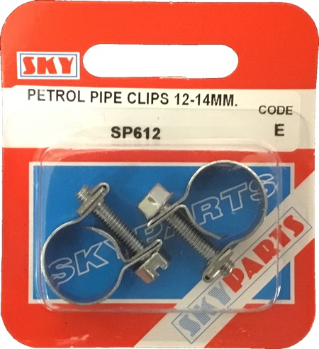 Sky Parts SP612 Car Van Automotive Accessory Hardware Petrol Pipe Clips 12-14mm