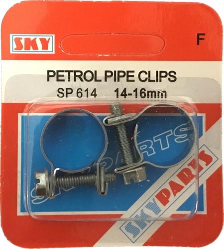 Sky Parts SP614 Car Van Automotive Accessory Hardware Petrol Pipe Clips 14-16mm