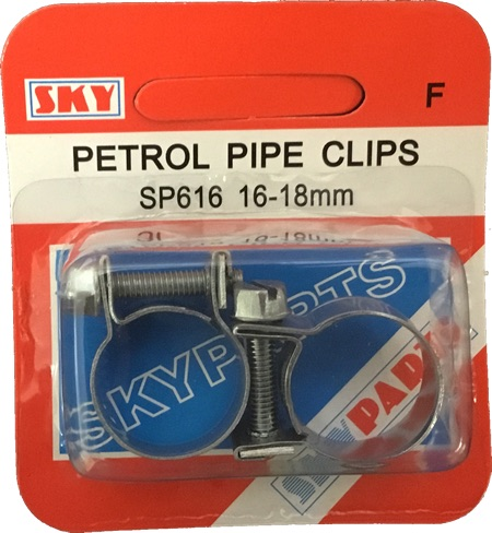 Sky Parts SP616 Car Van Automotive Accessory Hardware Petrol Pipe Clips 16-18mm