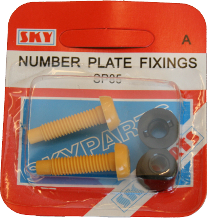 Sky Parts SP85 Car Van Automotive Accessory Hardware Number Plate Nut & Bolt