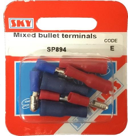 Sky Parts SP894 Car Van Automotive Accessory Hardware Mixed Bullet Terminals
