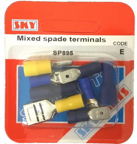 Sky Parts SP895 Car Van Automotive Accessory Hardware Mixed Spade Terminals