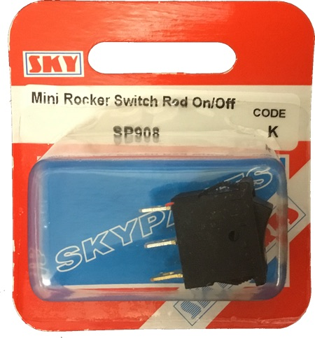 Sky Parts SP908 Car Van Automotive Accessory Hardware Switch Rocker Mini Red On-Off