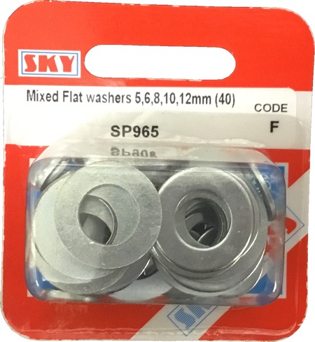Sky Parts SP965 Car Van Automotive Accessory Hardware Mixed Flat Washers