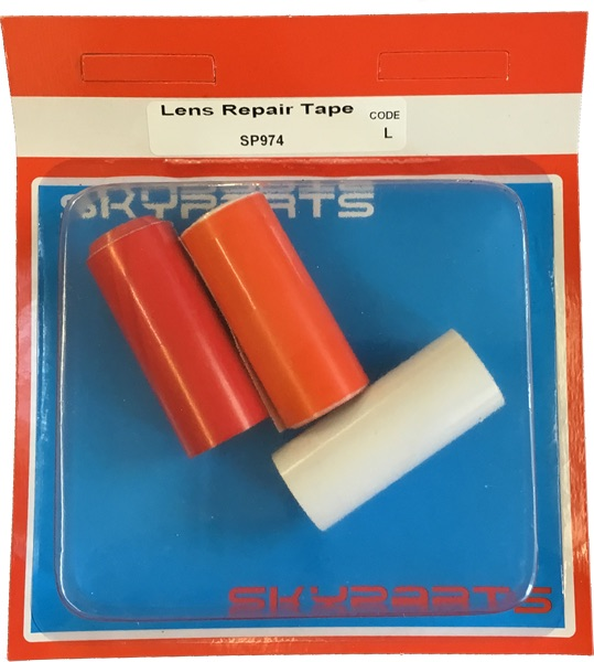 Sky Parts SP974 Car Van Automotive Accessory Hardware Lens Repair Tape Red Orange