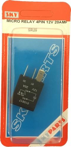 Sky Parts SR20 Car Van Automotive Accessory Hardware 12V Volts 20A Amps Micro Relay 4Pin