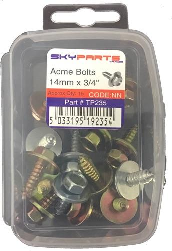 Sky Parts TP235 Car Van Automotive Accessory Hardware Acme Bolts 14mm