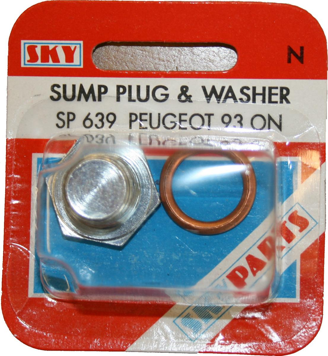 Sky Parts SP639 Car Van Automotive Accessory Hardware Peugeot Sump and Washer