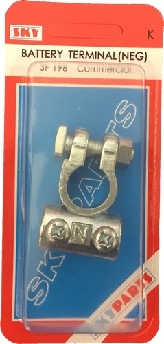 Sky Parts SP196 Car Van Automotive Accessory Hardware Battery Terminal Negative Thumbnail 1