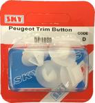 Sky Parts SP1020 Car Van Automotive Accessory Hardware Trim Button Peugeot