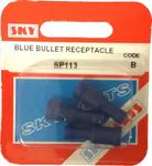 Sky Parts SP113 Car Van Automotive Accessory Hardware Blue Bullet Connectors