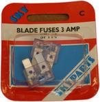 Sky Parts SP114 Car Van Automotive Accessory Hardware 240V Volts 3A Amps Blade Fuse