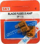 Sky Parts SP115 Car Van Automotive Accessory Hardware 12V Volts 5A Amps Blade Fuse