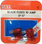 Sky Parts SP117 Car Van Automotive Accessory Hardware 12V Volts 10A Amps Blade Fuses