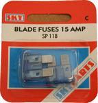 Sky Parts SP118 Car Van Automotive Accessory Hardware 12V Volts 15A Amps Blade Fuses