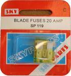 Sky Parts SP119 Car Van Automotive Accessory Hardware 12V Volts 20A Amps Blade Fuses