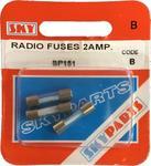 Sky Parts SP151 Car Van Automotive Accessory Hardware 12V Volts 2A Amps Blade Fuses