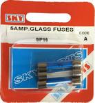 Sky Parts SP16 Car Van Automotive Accessory Hardware 12V Volts 5A Amps Glass Fuses