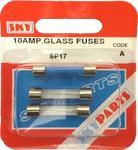 Sky Parts SP17 Car Van Automotive Accessory Hardware 12V Volts 10A Amps Glass Fuses