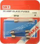 Sky Parts SP20 Car Van Automotive Accessory Hardware 12V Volts 35A Amps Glass Fuses