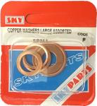 Sky Parts SP263 Car Van Automotive Accessory Hardware Copper Washers Assor