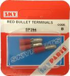 Sky Parts SP294 Car Van Automotive Accessory Hardware Red Bullet Connector