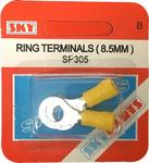 Sky Parts SP305 Car Van Automotive Accessory Hardware 35A Amps Yellow 8mm Ring Terminals 35 Amp