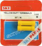 Sky Parts SP306 Car Van Automotive Accessory Hardware 35A Amps Yellow Butt Connectors 35 Amp
