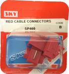 Sky Parts SP460 Car Van Automotive Accessory Hardware Red Cable Connectors