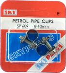 Sky Parts SP609 Car Van Automotive Accessory Hardware Petrol Pipe Clips 8-10mm