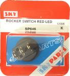 Sky Parts SP646 Car Van Automotive Accessory Hardware Rocker Switch Red Led