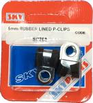 Sky Parts SP768 Car Van Automotive Accessory Hardware 5mm Rubber Lined P clips