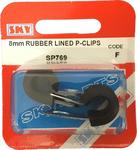 Sky Parts SP769 Car Van Automotive Accessory Hardware 8mm Rubber Lined P clips