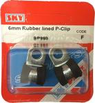 Sky Parts SP960 Car Van Automotive Accessory Hardware 6mm Rubber Lined Pclips