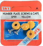 Sky Parts SP99 Car Van Automotive Accessory Hardware Number Plate Screw & Cap