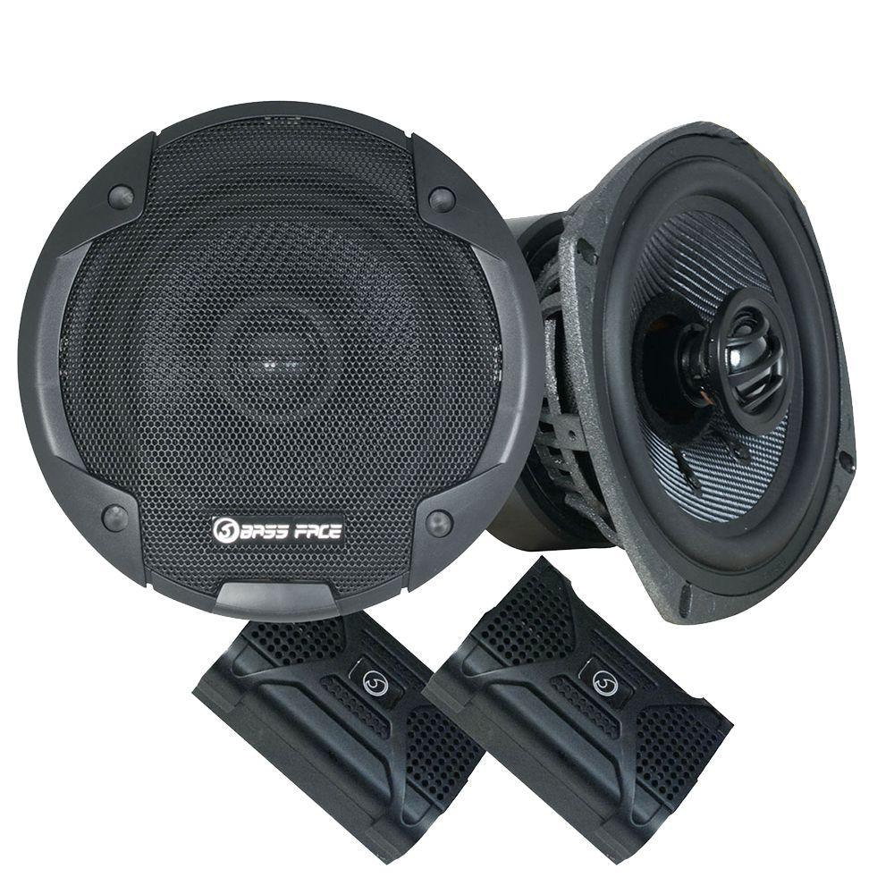 "Bassface BLACKSPL5.1 640w 5.25"" Inch 13cm SQ Coaxial 2Way Car Door Speakers Pair"