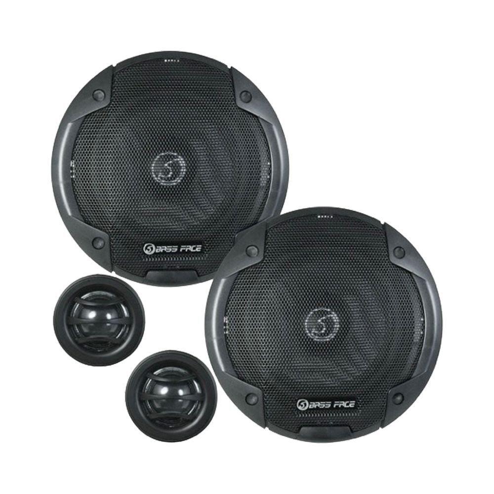 "Bassface BLACKSPL5C.1 800w 5.25"" Inch 13cm SQ Car Door Component Speaker Kit"