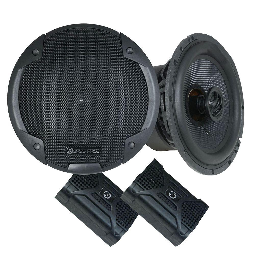 "Bassface BLACKSPL6.1 740w 6.5"" Inch 17cm SQ Coaxial 2Way Car Door Speakers Pair"