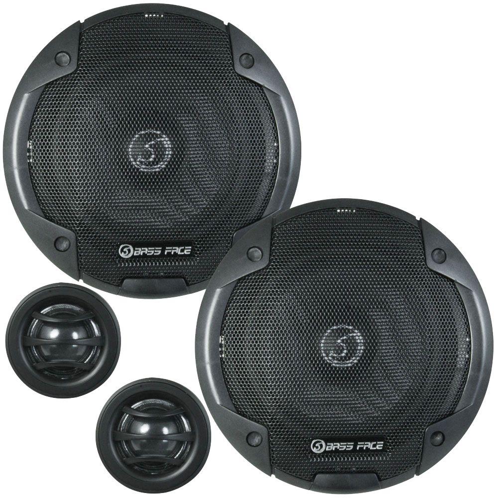 "Bassface BLACKSPL6C.1 900w 6.5"" Inch 17cm SQ Car Door Component Speaker Kit"